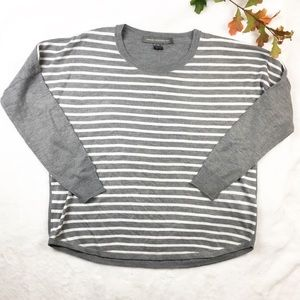 French Connection | Striped gray sweater S